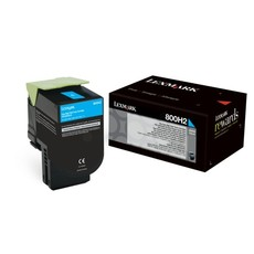 Lexmark 800H2 The Cyan High Yield Regular Program Toner Cartridge - 3,000 Pages