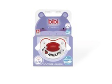 Bibi - 6-16m Silicone Soother - I love Mama