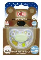 Bibi - 0-6m Silicone Soother - Glow In The Dark