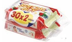 Pigeon - Baby Wipes 30's - 2-In-1 Pack