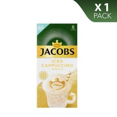 Jacobs Iced Coffee Cappuccino Vanilla - Pack of 8 sticks, 1 Pack