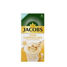 Jacobs Iced Coffee Cappuccino Salted Caramel - Pack of 8 sticks, 1 Pack