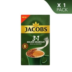 Jacobs Instant Coffee 3 in 1 Golden Granules, Rich & Creamy - 10 Sticks