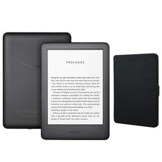 Amazon Kindle Touchscreen Wi-Fi With Built-in Light (With Ads) Black Bundle