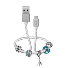 SBS Data Charging Cable USB 2.0 to Type-C with Charms