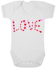 The Funky Shop - White Baby Grow - Love In Heart
