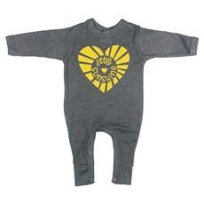 Magpie Designs Sunshine Charcoal Babygrow/Onsie