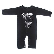 Magpie Designs Powered By Milk Black Babygrow/onsie