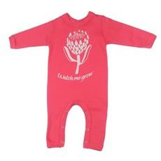 Magpie Designs Watch Me Grow Coral Babygrow/onsie