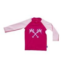 Parental Instinct Girls Quick Dry UPF50+ Long Sleeve Body Swim Suit - Pink
