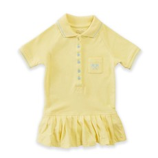 Parental Instinct Girls Emily Dress with Snap Snaps - Lemon Drop