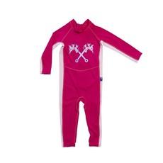 Parental Instinct Girls Quick Dry UPF50+ Full Body Swim Suit - Blue