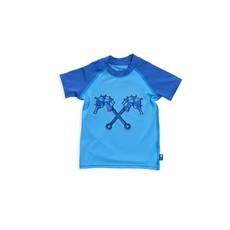 Parental Instinct Boys Quick Dry UPF50+ Short Sleeve Body Swim Suit - Blue