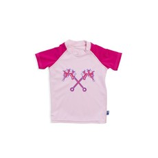 Parental Instinct Girls Quick Dry UPF50+ Short Sleeve Body Swim Suit - Pink