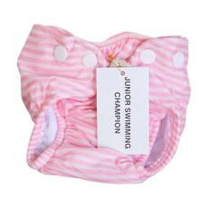 Junior Swimming Champion: Swim Nappy Candy Pink Stripe