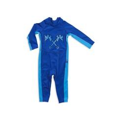 Parental Instinct Boys Quick Dry UPF50+ Full Body Swim Suit - Blue