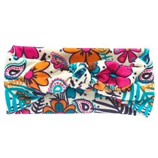 Soft Stretchy Baby Girl Floral Knotted Bow Headbands - Peacock