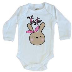 Easter-My First Easter-Girls-Babygrow-Longsleeve