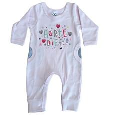 Winter Babygrow-Pink-Footless-Afrikaans-Hartedief