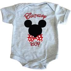 Birthday Boy-Babygrow-Mickey Mouse