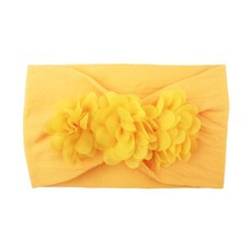 Flower Stretchy Baby Girl Knotted Bow Headbands