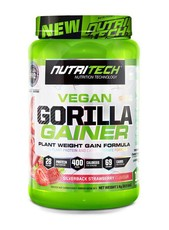 Nutritech Vegan Gorilla Gainer - Silverback Strawberry - 1kg