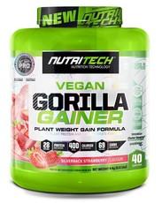 Nutritech Vegan Gorilla Gainer - Silverback Strawberry - 4kg
