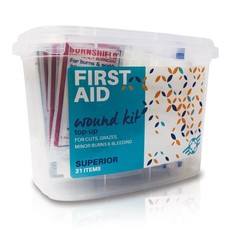 First Aid Wound Top-Up Superior Kit 31 Items