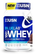 USN Blue Lab 100% Premium Whey Protein Double Chocolate Rocky Road - 908g