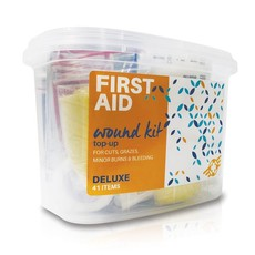 First Aid Wound Top-Up Deluxe Kit 41 Items