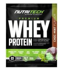 Nutritech Premium Whey Protein Sachets - Choc Mint - 32g x 15