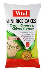 Vital Mini Rice Cakes Cream Cheese And Chives -125g