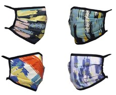 Abstract - Reusable Triple Layer Face Mask - Pack of 4