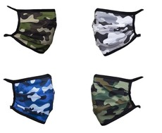 Camo - Reusable Triple Layer Face Mask - Pack of 4