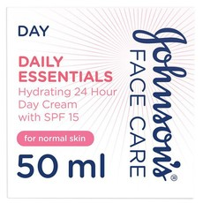 JOHNSON'S, Day Cream, Face Care, Daily Essentials, 24 HOUR Hydrating with SPF15, Normal Skin, 50ml