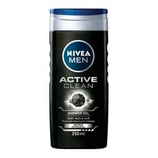 NIVEA MEN Active Clean Shower Gel/Body Wash - 250ml
