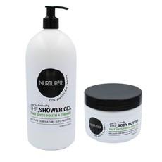 Nurturer - 2in1 Shower Gel 1L & Body Butter Combo 250ml (Lemongrass)