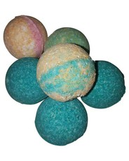 Set of 6 Bath Fizzers-Emerald Moss & Spicy Sangria-Poly Pack