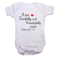 Qtees Africa I Am Fearfully And Wonderfully Made Baby Grow