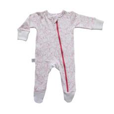 Poogy Bear 100% Cotton Zip Babygrow Pink Polar Bears
