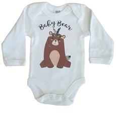 Babygrow Long Sleeve Baby Bear - Cream