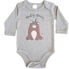 Babygrow-Long sleeve-Baby Bear-Brown