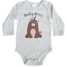 Babygrow-Longsleeve-Baby Bear-Oatmeal