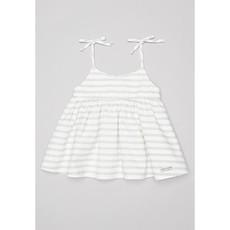 Sticky Fudge Stripe Summer Dress - Grey1