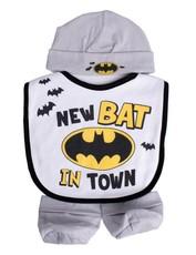 3 Piece Beanie, Bib & Booties Set Batman