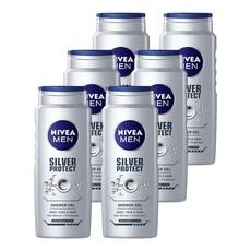 NIVEA MEN silver protect shower gel / body wash - 6 x 500ml