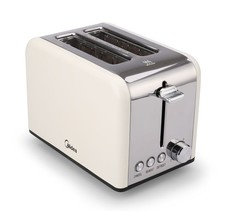 Midea 2 Slice Toaster - Cream