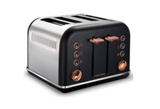 Morphy Richards - 4 Slice Accent Toaster - Black With Rose Gold