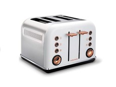 Morphy Richards - 4 Slice Accent Toaster - White With Rose Gold