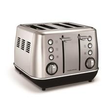"Morphy Richards - Toaster 4 Slice Stainless Steel Brushed - 1800W ""Evoke"""